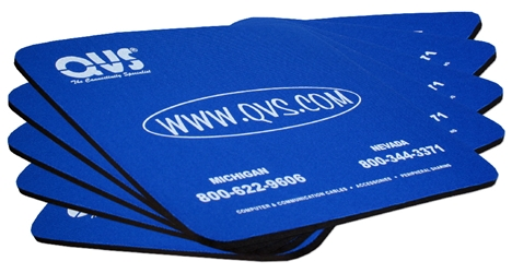 "5-Pack Blue Mouse Foam Pad CA249QVS-5 Mouse Pad - Blue (9"" x 8"" x 0.25""), Foam"