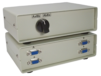 2x2 DB9 Crossover Serial Dataswitch CA278-X 037229327816