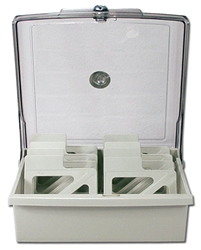 "Mini-CD/3.5 Inches Mini-Disc/Tape Drawer with Lock CA640L 037229316407 Disk Case - 3?"", Holds Up to 80 Disk with Lock, Smoke/Gray CA640L CA640L      2265"