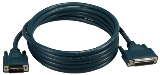 10ft DB60 to DCE DB25 RS232 Serial Cisco Router Cable CAB232FC 037229332902 Cable, Cisco Router, LFH60M (DB60) to RS232 DB25F, Serial DCE, 10ft CAB232FC CAB232FC  cables feet foot   2271