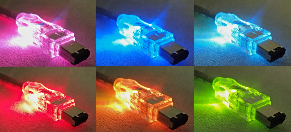 6ft IEEE1394 FireWire/i.Link 6Pin to 6Pin Translucent Illuminated/Lighted Cable with Multi-color LEDs CC1394-06L 037229139280 Cable, IEEE1394 FireWire/i.Link with Multi-color Changing LEDs, 6Pin to 6Pin, 6ft, Translucent TH6579 CC139406L CC1394-06L  cables feet foot   2297 IMCE microcenter  Rejected