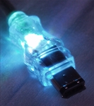 10ft IEEE1394 FireWire/i.Link 6Pin to 6Pin Translucent Illuminated/Lighted Cable with Blue LEDs CC1394-10BLL 037229139938 Cable, IEEE1394 FireWire/i.Link with Blue LEDs, 6 to 6pins, 10ft, Translucent 170993 TH6584 CC139410BLL CC1394-10BLL  cables feet foot   2303 IMCE microcenter Edward Matthews Approved