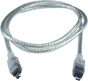 6ft IEEE1394 FireWire/i.Link 4Pin to 4Pin A/V Translucent Cable CC1394C-06T 037229139761 Cable, IEEE1394 FireWire/i.Link for Audio/Video, 4 to 4 Pins, 6ft, Translucent 169326  CC1394C06T CC1394C-06T  cables feet foot   2338  microcenter  Discontinued