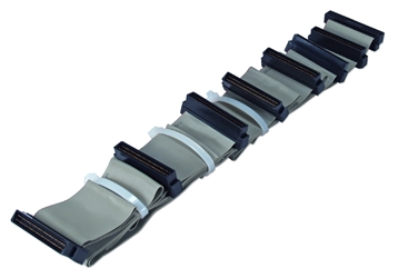 "70 Inches UltraSCSI HPDB68 (MicroD68) Six Drives Ribbon Cable plus a Terminator Connector CC2206-6T 037229223057 Cable, SCSI III/UltraSCSI (SCSI V) Internal Ribbon with Extra Connector for Terminator, Up to 7 Devices, (8) HPDB68M, 70"" CC22066T CC2206-6T  cables    2434  microcenter  Rejected"