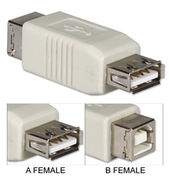 USB High-Speed Type A Female to B Female Adaptor CC2209-FF 037229228335 Adaptor/Inline Coupler, USB Universal Serial Bus Type A/B F/F UA-120-1 163055  CC2209FF CC2209-FF adapters adaptors     2469  microcenter Edward Matthews Approved
