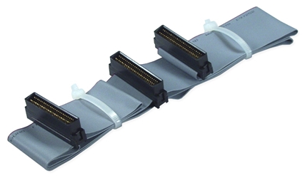 "32 Inches SCSI HPDB50 (MicroD50) Dual Drives Ribbon Cable CC2212-2 037229220773 Cable, SCSI II/HSSI Internal Ribbon, Up to 2 Devices, (3) HPDB50M, 32"" CC22122 CC2212-2  cables    2486"