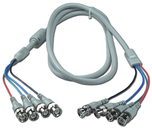 6ft 4BNC Male to Male Video Cable CC2290-06 037229229066 Cable, High Resolution RGB/BNC Video with Ferrite Core, (4) BNC/(4) BNC, 6ft CC229006 CC2290-06  cables feet foot   2529