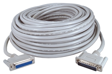 100ft DB25 Male to Female Fully-Wired Extension Cable for Parallel or Serial Applications CC306-100 037229306996
