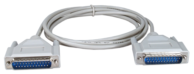 6ft DB25 Male to Male RS232 Serial Null Modem Cable CC351-06 037229351064 Cable, Serial RS232 Null Modem, DB25M/M, 6ft