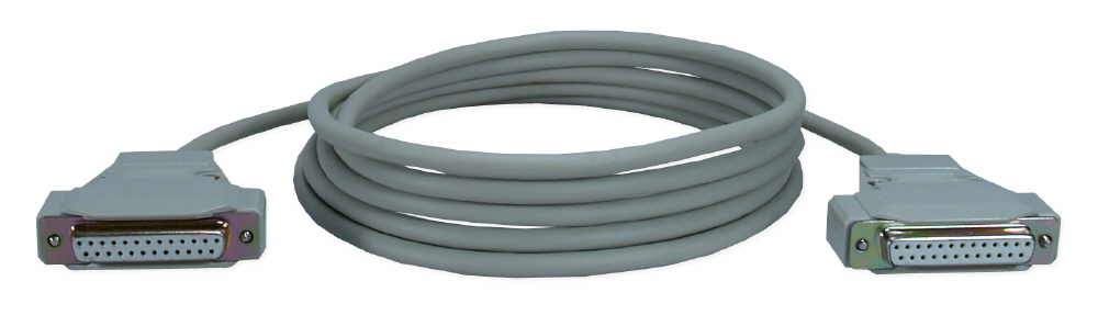 10ft DB25 Female to Female RS232 Serial Modem Cable CC380-10 037229380101 Cable, Serial RS232, DB25F/F (1 thru 8,20,22), 10ft CC38010 CC380-10  cables feet foot   2665