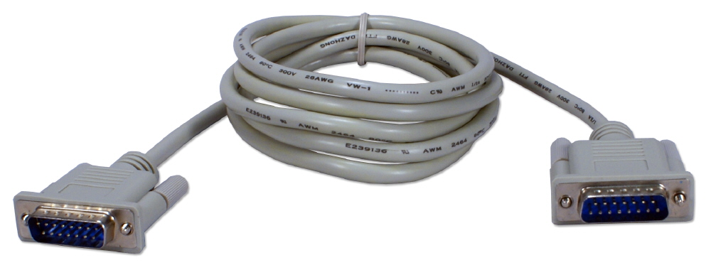 6ft DB15 Male to Male Straight-thru Multi-Purpose Cable CC381-06 037229381061 Cable, Straight Thru, Mac Video/Multimedia/X.21/AUI, DB15M/M, 6ft CC381-06N EVMA14    CC38106 CC381-06  cables feet foot   2666