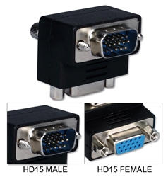 VGA HD15 Down-Angle Male to Female Video Adaptor CC388A-MFD 037229422573 VGA Video Adaptor, Right-Angle/DOWN, HD15M/F 333344  CC388AMFD CC388A-MFD adapters adaptors     2701  microcenter Edward Matthews Approved
