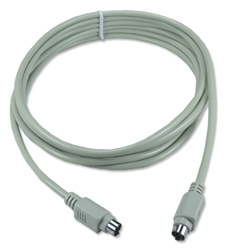 15ft Mini6 Male to Male PS/2 Keyboard/Mouse Cable CC389-15SNU 037229989168 Cable, Straight Thru, Keyboard/Mouse - Straight Type, PS/2, Mini6M/M, 15ft, 24AWG, Non-UL CC38915SNU CC389-15SNU  cables feet foot   2748