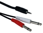 6ft 3.5mm Male to Dual-1/4 Male Audio Y-Cable CC399TS-Y06 037229402926