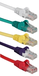 5-Pack 1ft 350MHz CAT5e/Ethernet Flexible Snagless Multi-Color Patch Cords CC5-01RP 037229710854