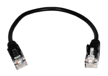 0.5ft 350MHz CAT5e Flexible Snagless Black Patch Cord CC711-0.5BK 037229710465