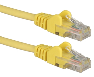 20ft 350MHz CAT5e Flexible Snagless Yellow Patch Cord CC711-20YW5