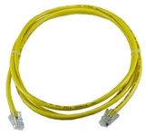 25ft CAT5 Flexible Yellow Patch Cord CC712-25YW 037229712759