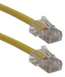7ft 350MHz CAT5e Flexible Yellow Cord CC712E-07YW 037229716382 Cable, CAT5E Ethernet RJ45 Category 5E 350MHz Flexible/Stranded, Network Hub/DSL/CableModem/LAN Patch Cord, Assembled, Yellow, 7ft CC712E07YW CC712E-007YW  cables feet foot   3030  microcenter  Rejected
