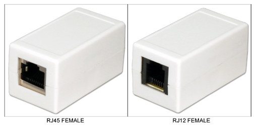 Telco RJ12 Female to RJ45 Female Coupler CC937 037229934847 Telco RJ12 to RJ45 Coupler, Female to Female