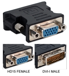 VGA HD15 Female to DVI Male Flat Panel Video Adaptor CF15D-FMA 037229489460 Adaptor, VGA/SVGA PC Interface to DVI Flat Panel Video Display, HD15F/DVI M 972372 TW8116 CF15DFMA CF15D-FMA adapters adaptors     3214 IMCE microcenter Edward Matthews Approved