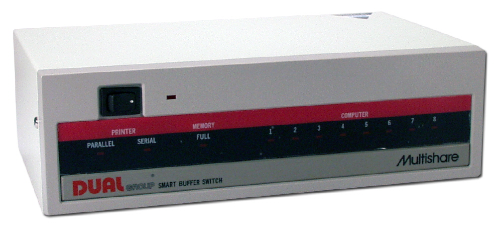 8x2 Eight Computers/Parallel to Parallel or Serial Auto Bufferswitch with 256K RAM - EDL8P-PS