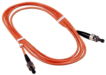2-Meter ST to ST Multimode Fiber Simplex Patch Cord F2ST-2M 037229487015