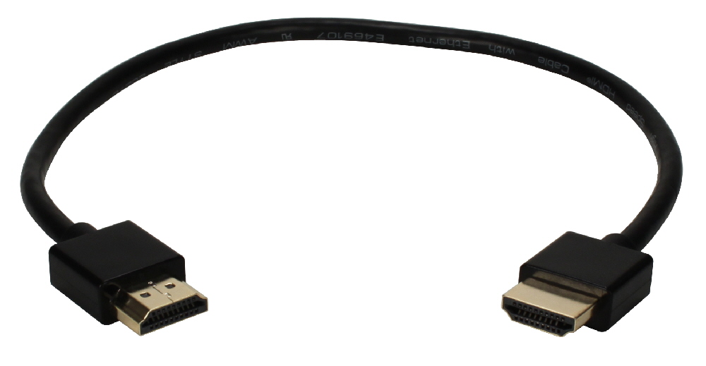 1ft High Speed HDMI UltraHD 4K with Ethernet Thin Flexible Cable - HDT-1F