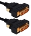 2-Meter Ultra High Performance DVI Male to Male HDTV/Digital Flat Panel Gold Swivel Cable - HSDVIGA-2M