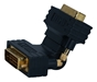 HDTV/HDCP DVI-D Male to Male Gold Swivel Gender Changer HSDVIGA-MM 037229490053 Adaptor, DVI Single Link High Definition HDTV/HDCP 1080p Video Swivel Adaptor, Left or Right Angle, DVI-D M/M, Gold HSDVIGAMM HSDVIGA-MM adapters adaptors  feet foot   3477