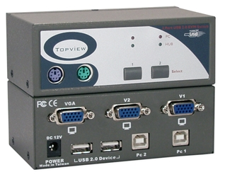 USB 2.0 2Port KVM Desktop Switch with Built-in 2Port Hub KVM-12U2 037229542769 ServerMaster USB 2.0 KVM Keyboard, Monitor & Mouse - 2 USB-Enabled Computer Share (1) VGA/SVGA HD15 Video, USB, Mouse and Keyboard, Bus/Self Powered KVM-102UH   KVM12U2 KVM-12U2      3570
