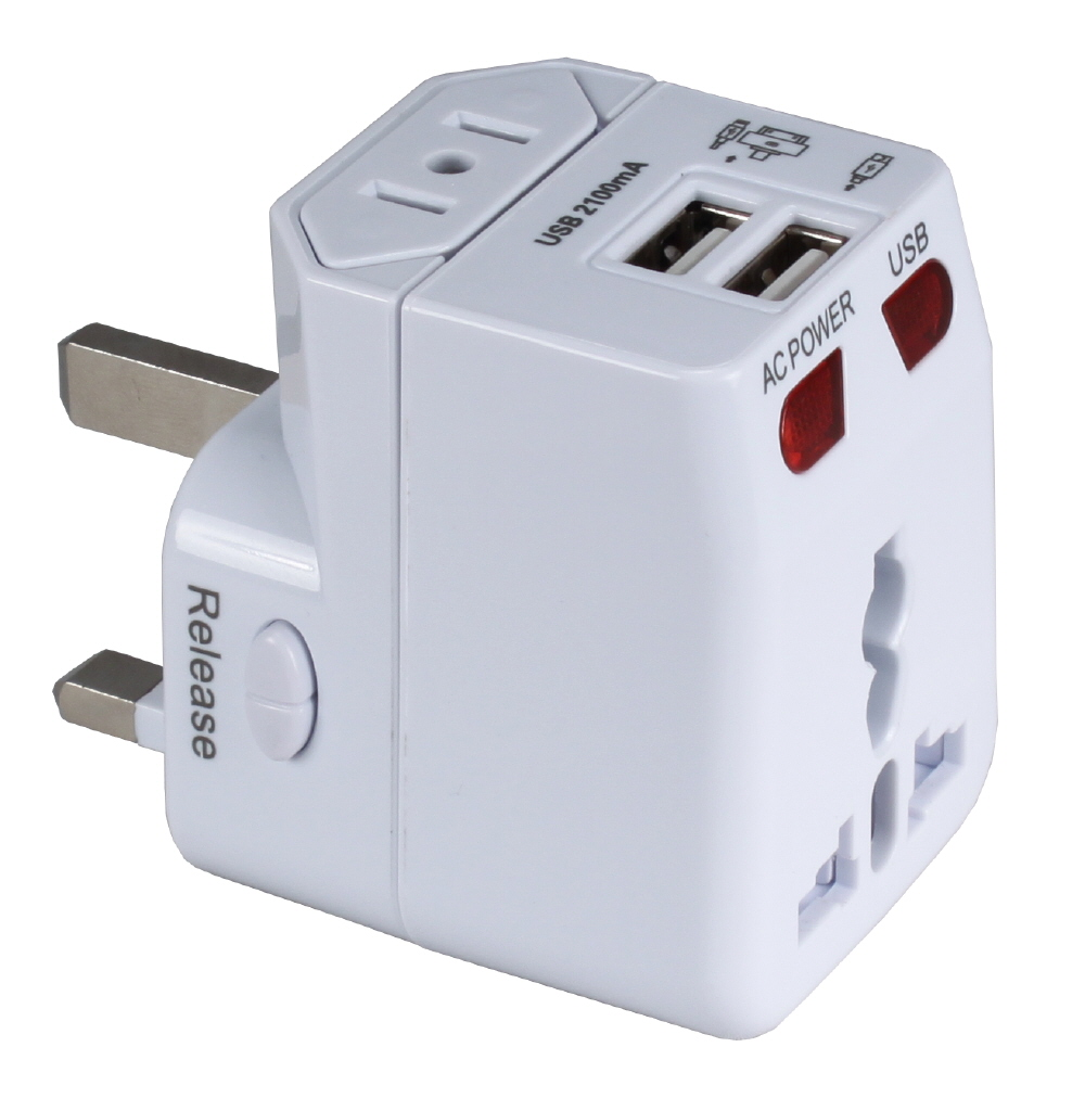 Premium World Travel Power Adaptor with Surge Protection & 2.1A Dual-USB Charger PA-C4 037229334623 3-in-1 Global/World Power Travel Power Adaptor with Dual-USB Wall Charger for US, UK, Europe, Asia and More WP-300A-B2-2.1A   PAC4 PA-C4 adapters adaptors     3952  microcenter Zachary Sheets Rejected