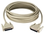 25ft DB25 Male to Male Cable for Parallel and Serial Applications PC305-25M 037229735253 Cable, Straight Thru, Universal Application, Parallel/Serial RS232, DB25M/M, 25 Wires, 25ft CC305-25, PC305-25N     PC30525M PC305-25M  cables feet foot   3659