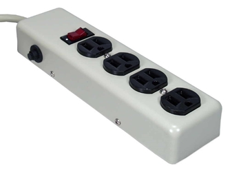 4-Outlets Surge Protector with Metal Case and 6ft Cord PP100 037229771008 Surge Strip, 4 Outlets, 3 MOVs, Metal PP100 PP100      3664