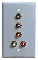 HDTV Component Video with Stereo Audio RCA Wallplate RCAWP-5AV 037229401110 5RCA HDTV Component Video and Stereo Audio Pass-Thru AV Wallplate, RCA F/F A-1117   RCAWP5AV RCAWP-5AV      3734
