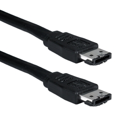 Premium 2-Meter eSATA 3Gbps Shielded External Black Data Cable SATA2E-2M 037229115857 Cable, eSATA II Serial ATA External 7Pin Data Cable, Shielded, 7Pin to 7Pin, Black, 26AWG, 2M (80 inch) 200659  SATA2E2M SATA2E-2M  cables   inches 3762  microcenter Michael Weiler Approved