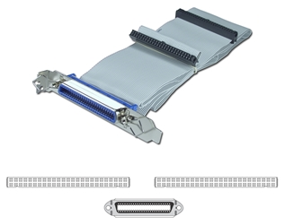 "SCSI 42 Inches IDC50 Single Drive Ribbon Cable plus External Port SCSI-1P 037229939989 Cable, Add a Cen50 External Port from Internal SCSI, (2)IDC50S/(1)Cen50F with Mounting Bracket, 42"" 293589  SCSI1P SCSI-1P  cables    3789  microcenter  Discontinued"