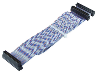 "20 Inches Ultra160 SCSI Single Drive PVC Twisted Pairs Ribbon Cable plus a Terminator Connector SCSIU3S-1T 037229223156 Cable, Ultra2 Up to 80MBps LVD SCSI Twisted Flat Internal Ribbon Cable with Extra Connector for Terminator, (3) HPDB68, 20"" SCSIU3S1T SCSIU3S-1T  cables    3810"
