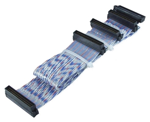 "40 Inches Ultra160 SCSI Three Drives PVC Twisted Pairs Ribbon Cable plus a Terminator Connector SCSIU3S-3T 037229223170 Cable, Ultra2 Up to 80MBps LVD SCSI Twisted Flat Internal Ribbon Cable with Extra Connector for Terminator, (5) HPDB68, 40"" SCSIU3S3T SCSIU3S-3T  cables    3811"