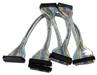 60 Inches Ultra320SCSI LVD Five Drives Translucent Silver Round Internal Bulk Cable SCU160SV5B 037229112726