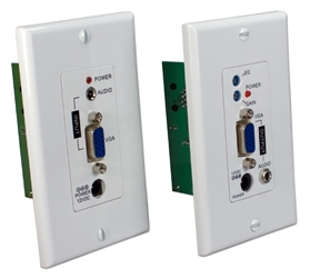 300-Meter VGA/UXGA with Audio Single CAT5e/6 Wallplate Extender Kit VA-EWP 037229007497 VGA/WUXGA Video with Stereo Audio CAT5e/6 Wallplate Extender Kit, Signal Repeater, Up to 300 meters, HD15/3.5mm/RJ45 Female Connectors VB-C5 VARCA-1P  A-1303WP  KV6464 VAEWP VA-EWP    meters  2001 IMCE