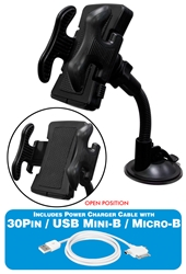Universal Windshield Mount Holder with 3-in-1 USB Sync/Charger Cable Kit WH-C1K 037229334272 Universal Windshield Mount Holder with USB Sync/Charger 3-in-1 Cable Kit for iPad/iPhone/iPod, smartphone and tablets RC3218 WHC1K WH-C1K  cables    3927 IMCE microcenter Cox Rejected